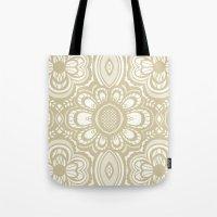 Lace Floral Sand On Ivor… Tote Bag