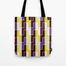 Purple & yellow rectangle pattern Tote Bag