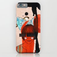 iPhone & iPod Case featuring girl with one eye by Randi Antonsen
