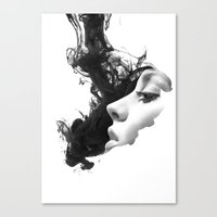 Smoke & woman Canvas Print