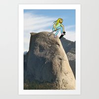 Half Dome Drop In Art Print