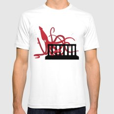 Giant Squid Attacks Edinburgh's Acropolis Mens Fitted Tee White SMALL