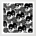 Bouffant Girls Art Print