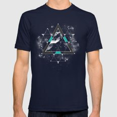 Time & Space Mens Fitted Tee Navy SMALL