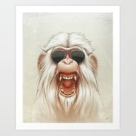 The Great White Angry Mo… Art Print