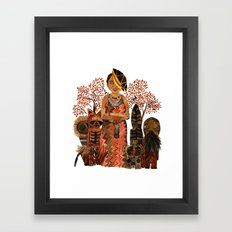 The Visiting Preistess Framed Art Print