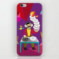 DJ Moustache  iPhone & iPod Skin