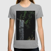 Cucumber Falls Womens Fitted Tee Athletic Grey SMALL