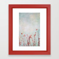 snowberries Framed Art Print