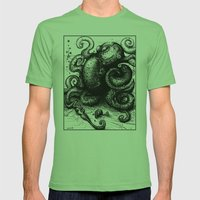 Octopus #8 Mens Fitted Tee Grass SMALL