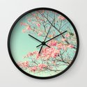 Spring Kissing the Sky Wall Clock