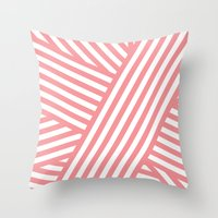 Coral Bandaids Throw Pillow