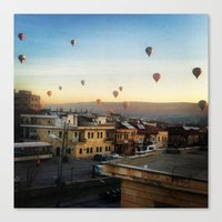 Cappadocian Hot Air Balloons 2 Canvas Print