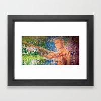 Stop Biting 3 Framed Art Print