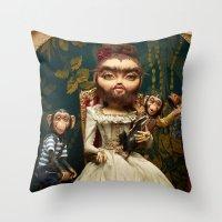 Bearded Helena Throw Pillow