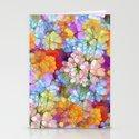 Rainbow Flower Shower Stationery Cards