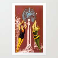 Pyramid of love Art Print