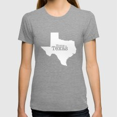 Texas Is Home - State Ou… Womens Fitted Tee Tri-Grey SMALL
