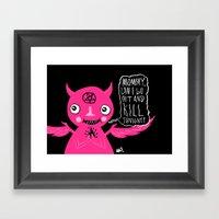 Sweet Baby Demon Framed Art Print