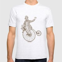 Flatland Penny Farthing Mens Fitted Tee Ash Grey SMALL