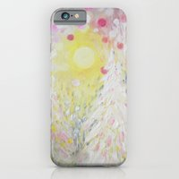 Snowing Pink Polka Dots Sky Lights iPhone 6 Slim Case