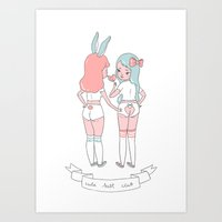Cute Butt Club Art Print