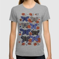 Butterflies Butterflies Womens Fitted Tee Athletic Grey SMALL