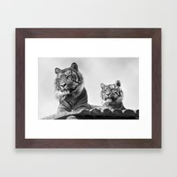 Tigers two Framed Art Print