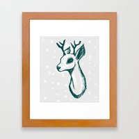 Sketchy Deer Framed Art Print