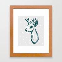 Sketchy Deer Framed Art Print
