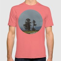 Magic Northwest Forest Mens Fitted Tee Pomegranate SMALL