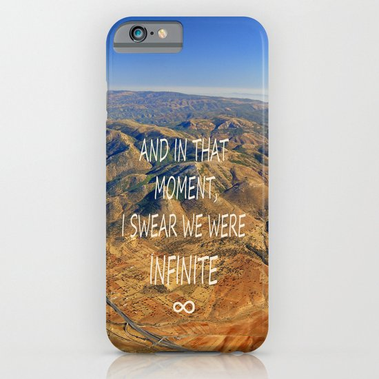 And in that moment, I swear we were infinite ∞. Aerial photo iPhone & iPod Case