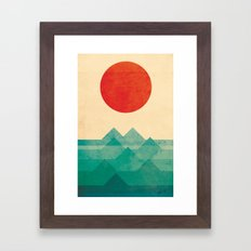The ocean, the sea, the wave Framed Art Print