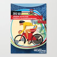 UCI Melbourne World Cycling Championships Poster with Text Canvas Print
