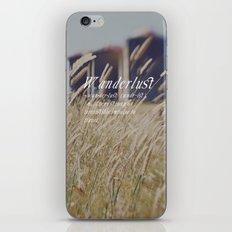 n. WAN-DER-LUST. iPhone & iPod Skin