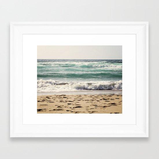 Walking In The Sand Framed Art Print