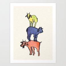 3 Billy Goats Up Art Print