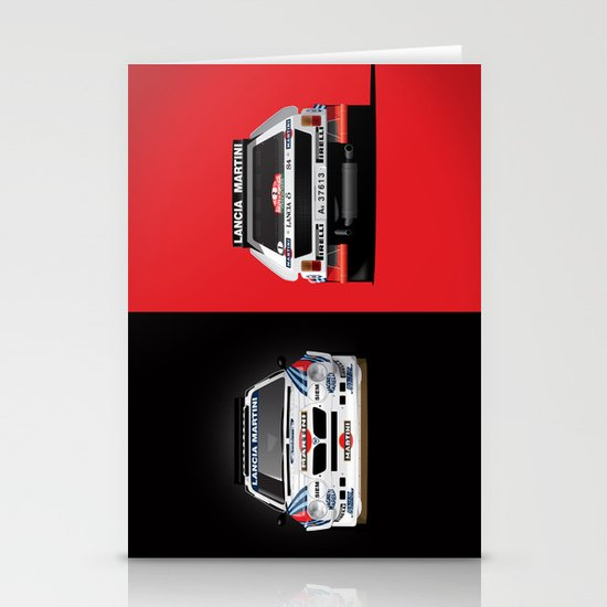 Group B Edition, N.º2, Lancia Delta S4 Stationery Card