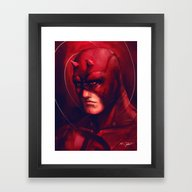 Framed Art Print featuring The Man W/ No Fear by Markclarkii
