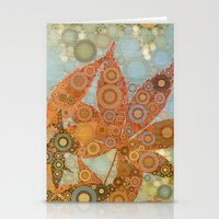Perky Maple Leaf Abstrac… Stationery Cards