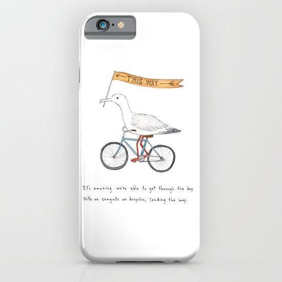 seagulls on bicycles iPhone & iPod Case