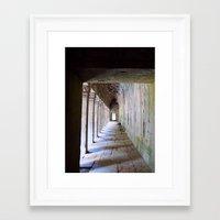 Temple Corridor Angkor W… Framed Art Print