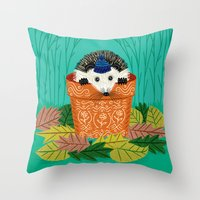 A Hedgehog's Home Throw Pillow
