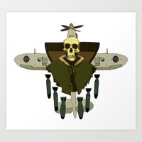 spitfire breakdown Art Print