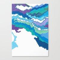 Geometric Landscape Canvas Print