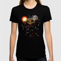 SPACE TURTLE VII - 202 Womens Fitted Tee Black SMALL