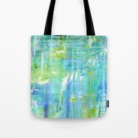 Greens and Blues Tote Bag