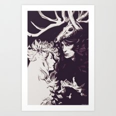 Old Forest Gods - NBC Hannibal Bedelia Art Print