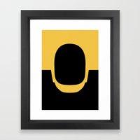 Daft Gold Framed Art Print