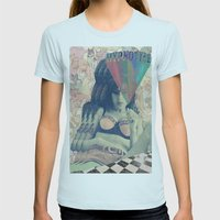 Love is a losing game Womens Fitted Tee Light Blue SMALL